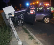 Belgium speed camera crash