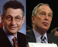 Sheldon Silver and Mike Bloomberg