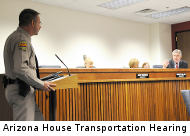 Arizona House Transportation hearing, 1/22. CameraFraud photo