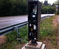 French broken speed camera