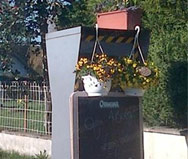 Decorated French speed camera