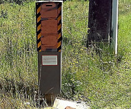 Firmi, France speed camera