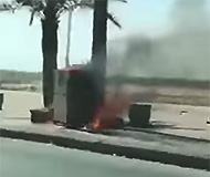 Camera burns in Saudi Arabia