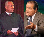 Justices Thomas and Scalia