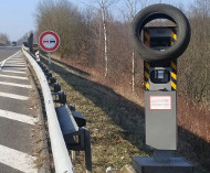Tired French speed camera