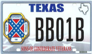 Confederate license plate
