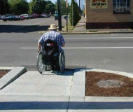 Wheelchair crossing
