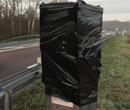 Wrapped speed camera