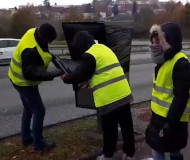 Yellow vests wrap a speed camera