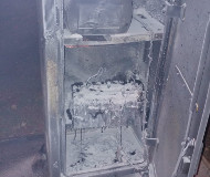 South African speed camera burned